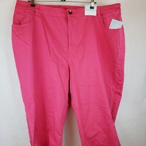 Liz & Me Pants - Liz & Me Pink Capri Pants Size 26W